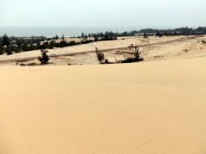 Nhat Le beach sand dunes