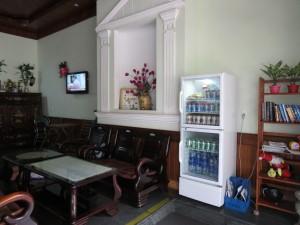 Reception minibar